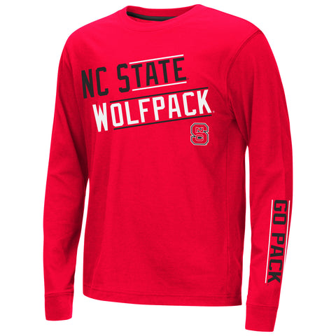 NC State Wolfpack Colosseum Youth Red Groomed Long Sleeve T-Shirt
