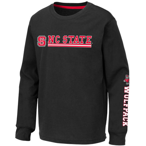 NC State Wolfpack Youth Black Alberta Long Sleeve T-Shirt