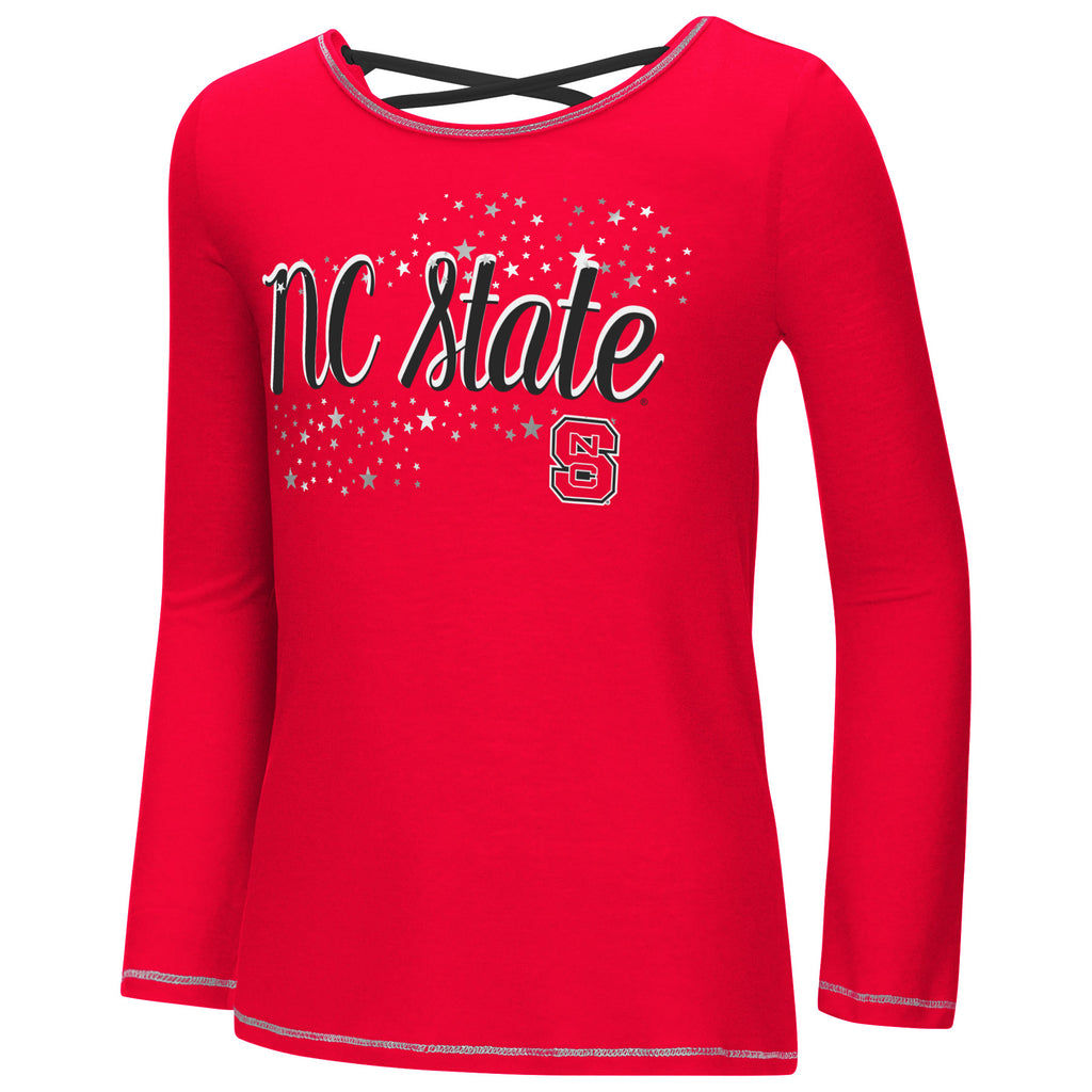 NC State Wolfpack Girls Red Camber Long Sleeve T-Shirt