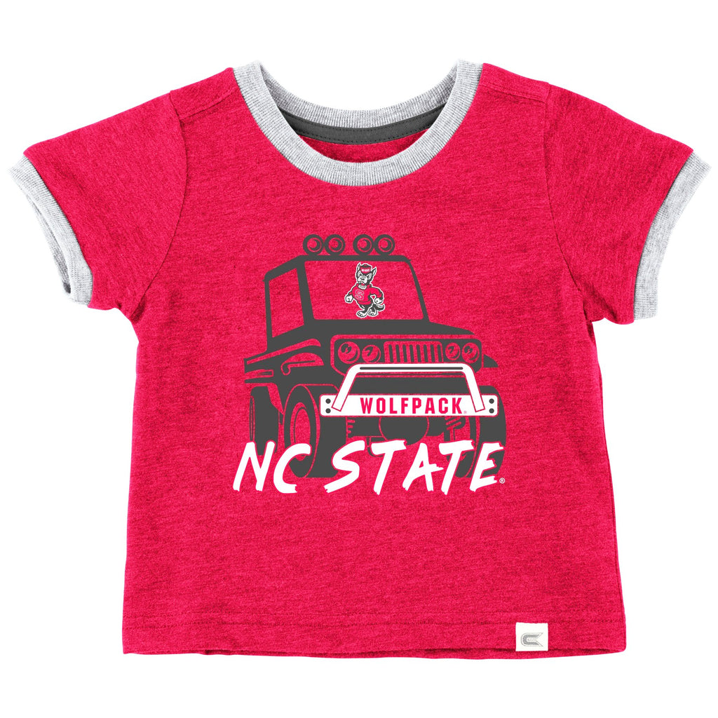 NC State Wolfpack Infant Boy's Red Mud Flap T-Shirt
