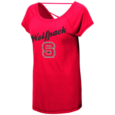 NC State Wolfpack Women's Red Bold Gestures Shirt