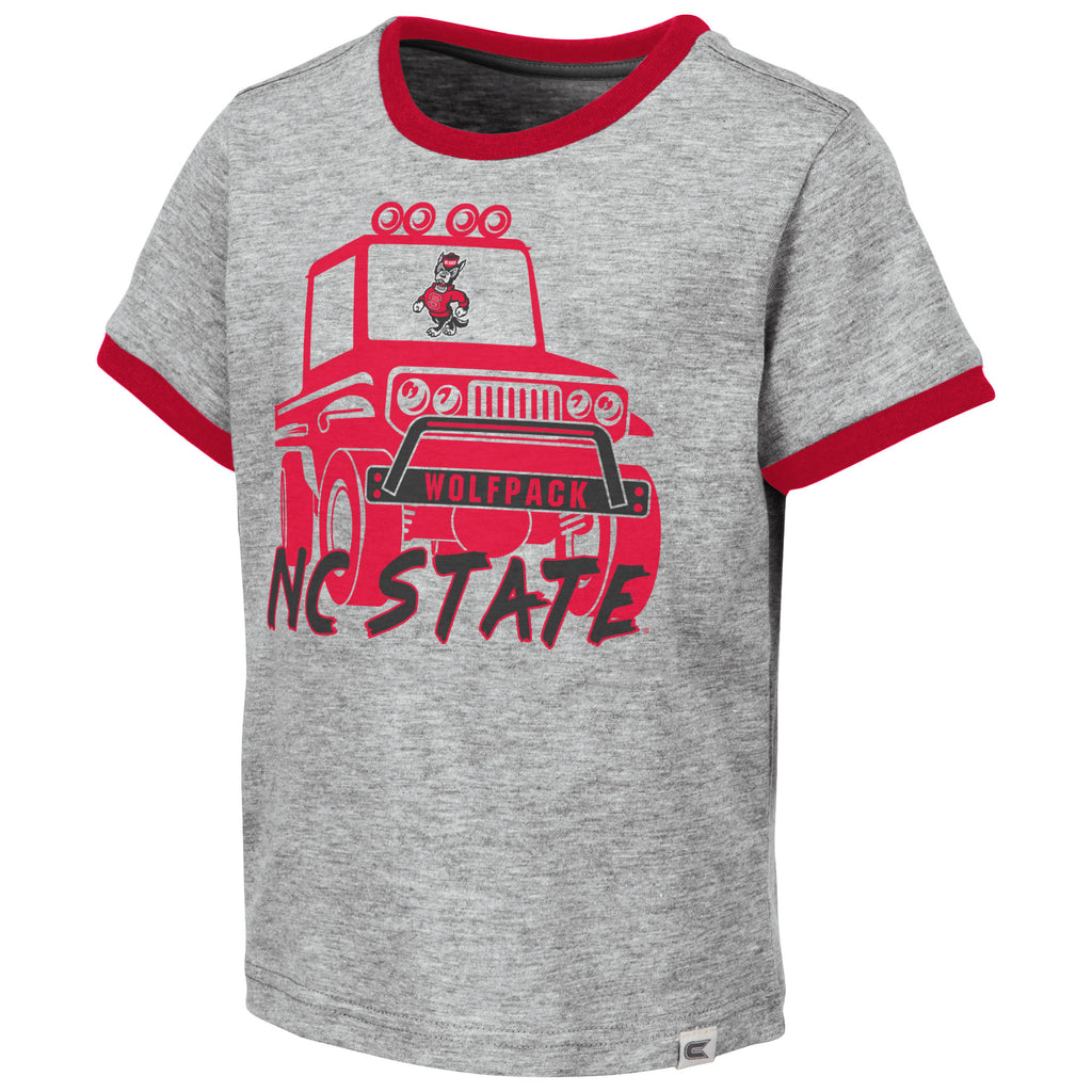 NC State Wolfpack Toddler Boy's Grey Mud Flap T-Shirt