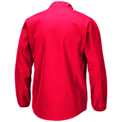 NC State Wolfpack Men's Red Tips 1/2 Zip Wind Jacket