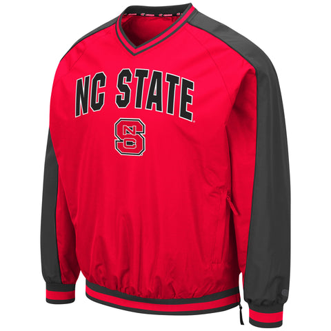 NC State Wolfpack Men's Red Block S Duffman Windbreaker Jacket