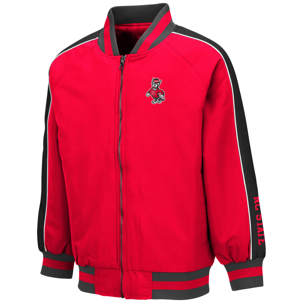NC State Wolfpack Youth Red Strutting Wolf Codger Full Zip Jacket