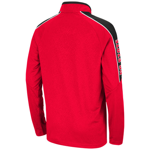 NC State Wolfpack Youth Red Bunsen Block S 1/4 Zip Jacket