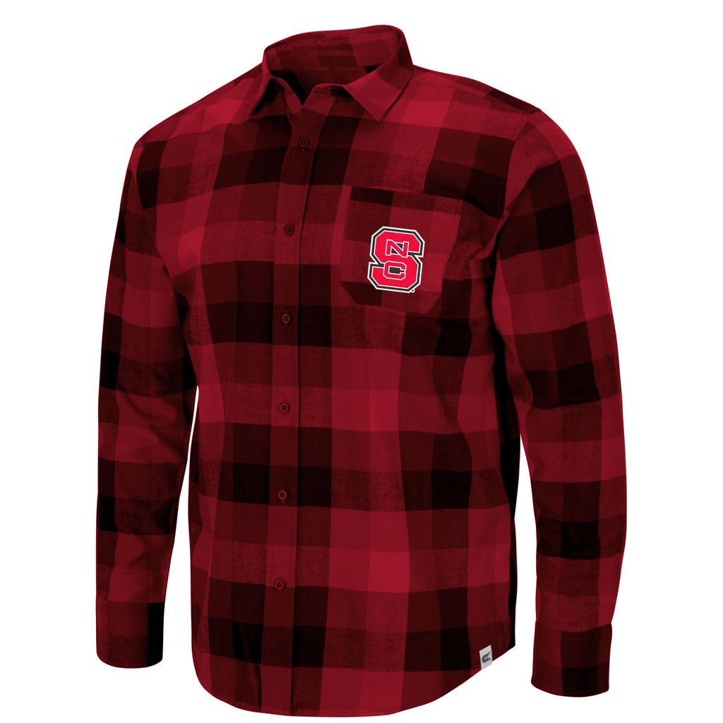 NC State Wolfpack Men's Bluth Plaid Button Up Shirt