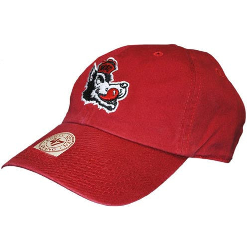 NC State Wolfpack Red Vintage Slobbering Wolf Clean Up Fitted Hat