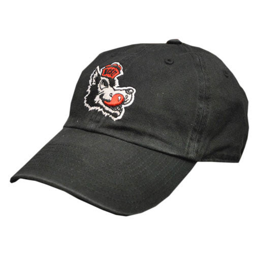 NC State Wolfpack Black Vintage Slobbering Wolf Franchise Fitted Hat