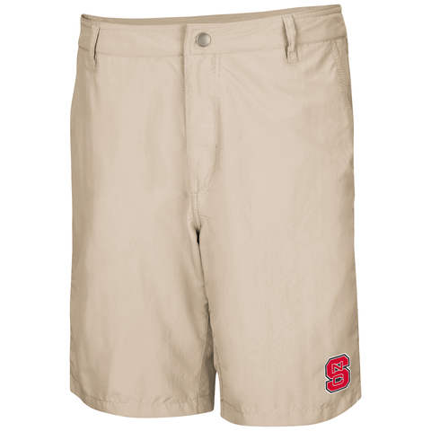 NC State Wolfpack Men's Khaki Pitch Shorts