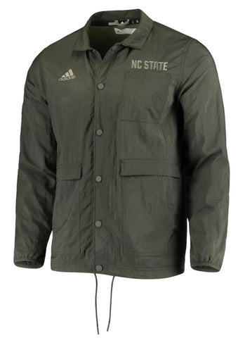 NC State Wolfpack Adidas Salute To Service Snap Button Coaches Jacket