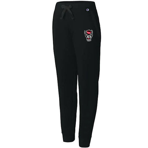 NC State Wolfpack Champion Women's Black University Wolfhead Sweatpants