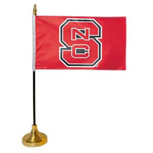"NC State Wolfpack 4""X6"" Desk Flag"