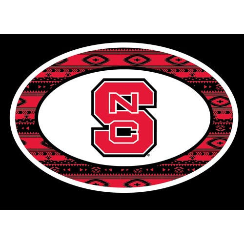 NC State Wolfpack Team Color Aztec Design Euro Decal