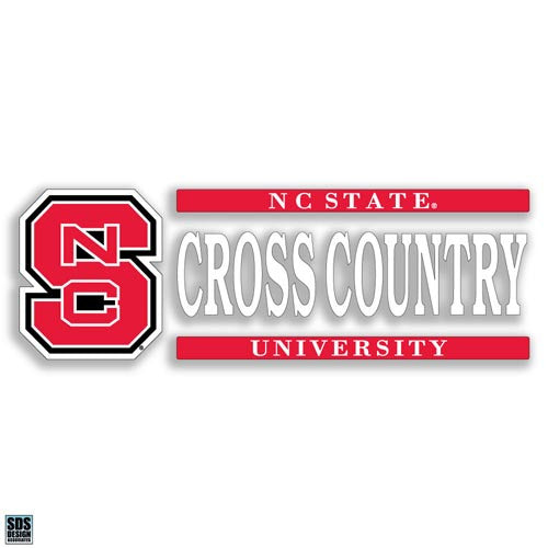 NC State Wolfpack Cross Country Vinyl Decal