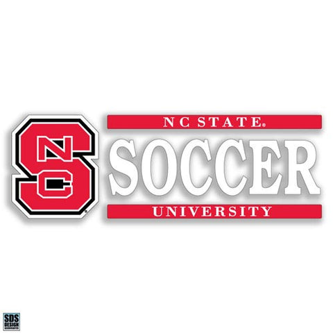 NC State Wolfpack Soccer Vinyl Decal