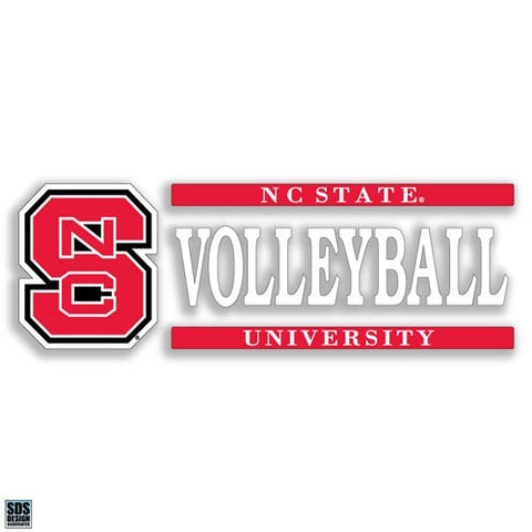 NC State Wolfpack Volleyball Vinyl Decal