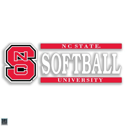 NC State Wolfpack Softball Vinyl Decal