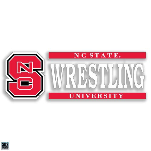 NC State Wolfpack Wrestling Vinyl Decal