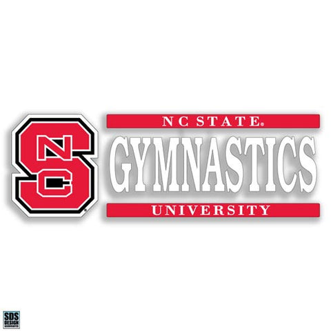 NC State Wolfpack Gymnastics Vinyl Decal