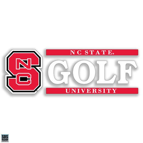 NC State Wolfpack Golf Vinyl Decal