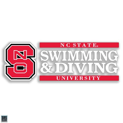 NC State Wolfpack Swimming & Diving Vinyl Decal