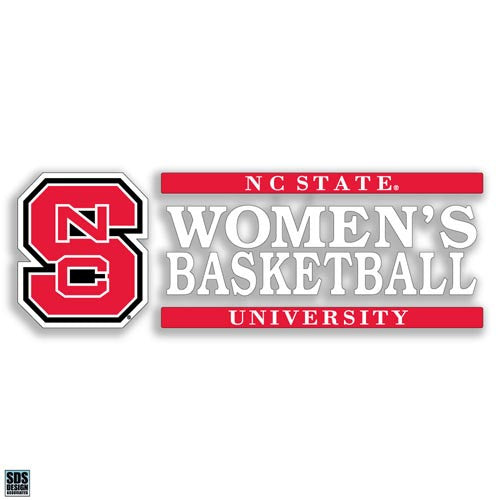 NC State Wolfpack Women's Basketball Vinyl Decal