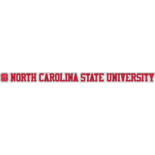 NC State Wolfpack Banner w/ Block S Vinyl Decal