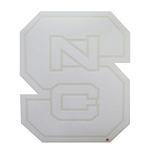 NC State Wolfpack White Block S Vinyl Decal