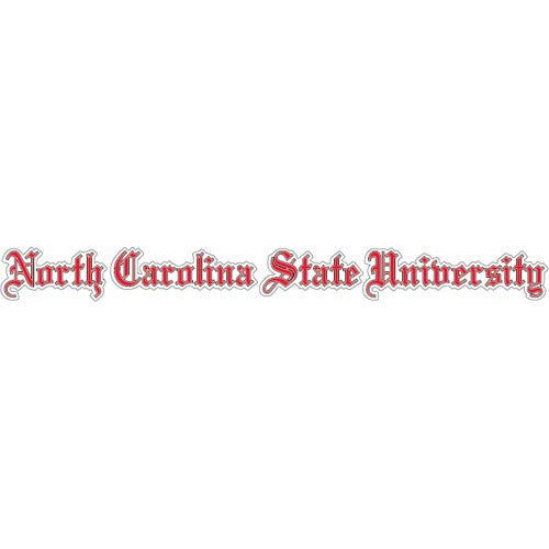NC State Wolfpack Old English Text Decal