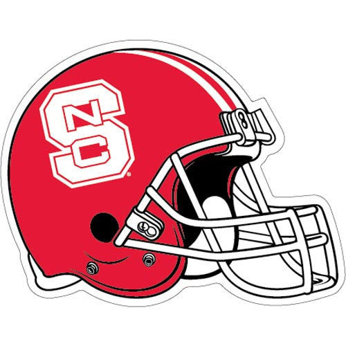 Nc State Wolfpack Red Football Helmet Magnet Red And