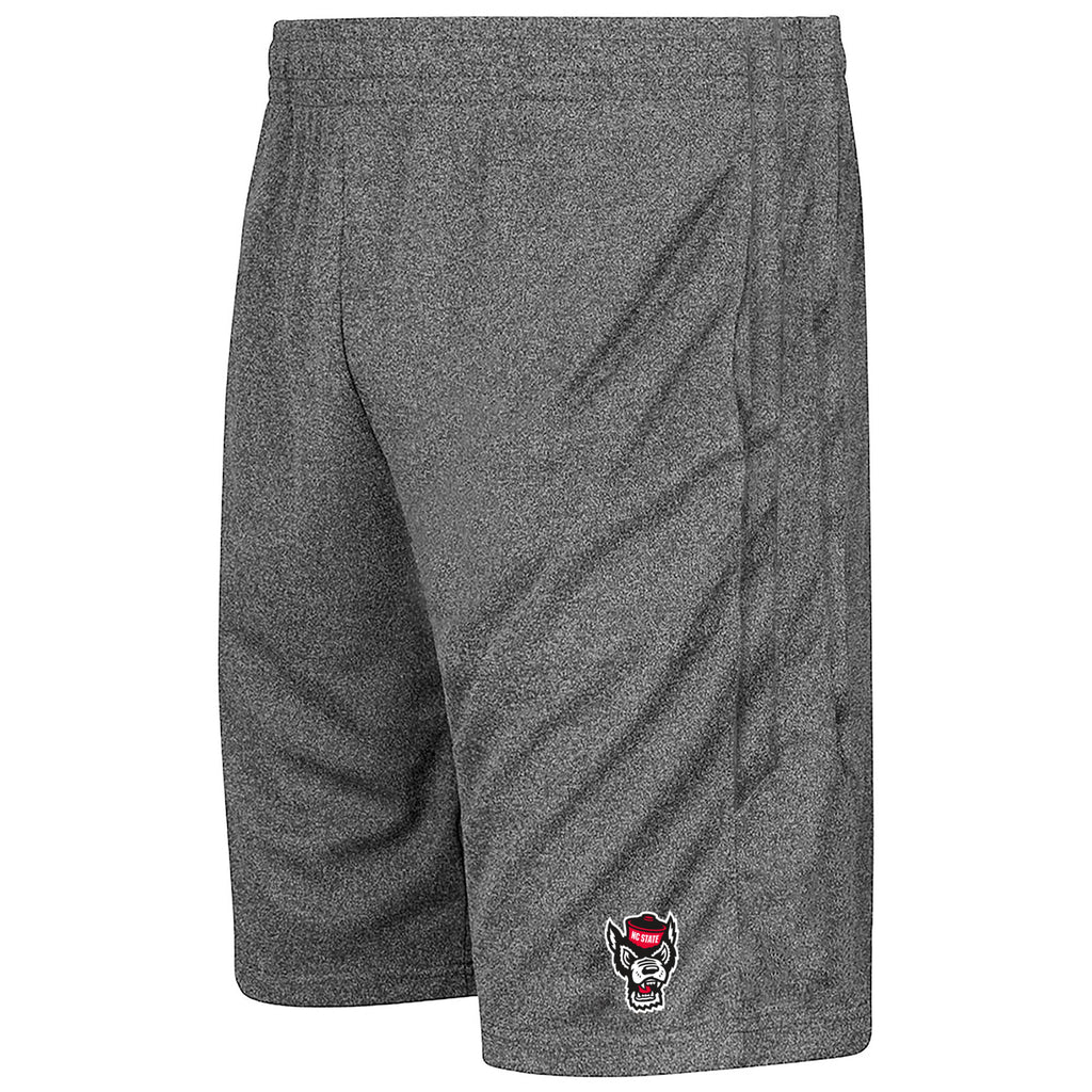 NC State Wolfpack Colosseum Men's Heathered Grey Sidler Shorts