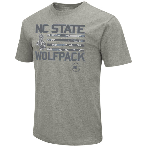 NC State Wolfpack Heathered Grey OHT Strutting Wolf T-Shirt