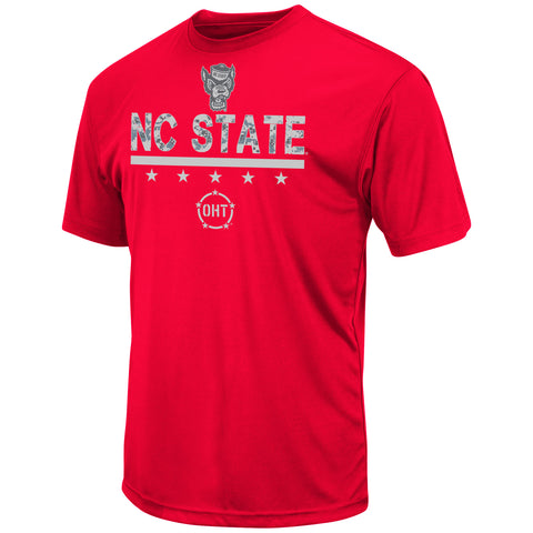 NC State Wolfpack Red OTH Wolfhead Poly T-Shirt