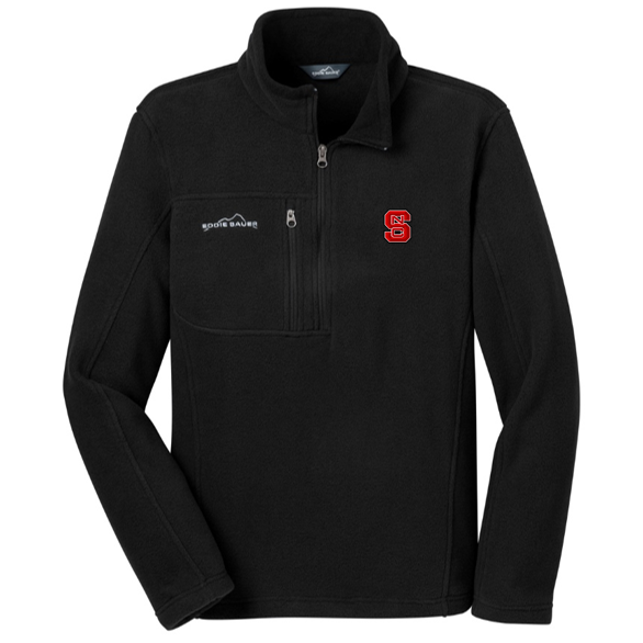 NC State Wolfpack Eddie Bauer Men's Black 1/4 Zip Jacket