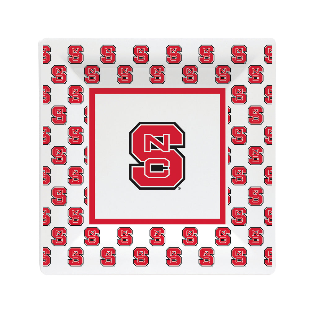 "NC State Wolfpack White All Over Block S 6.5"" Plate"
