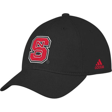 NC State Wolfpack Black adidas® Youth Slouch Hat