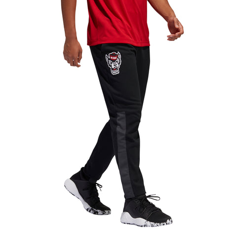 NC State Wolfpack Adidas Black Wolfhead Swingman Basketball Warm Up Pants