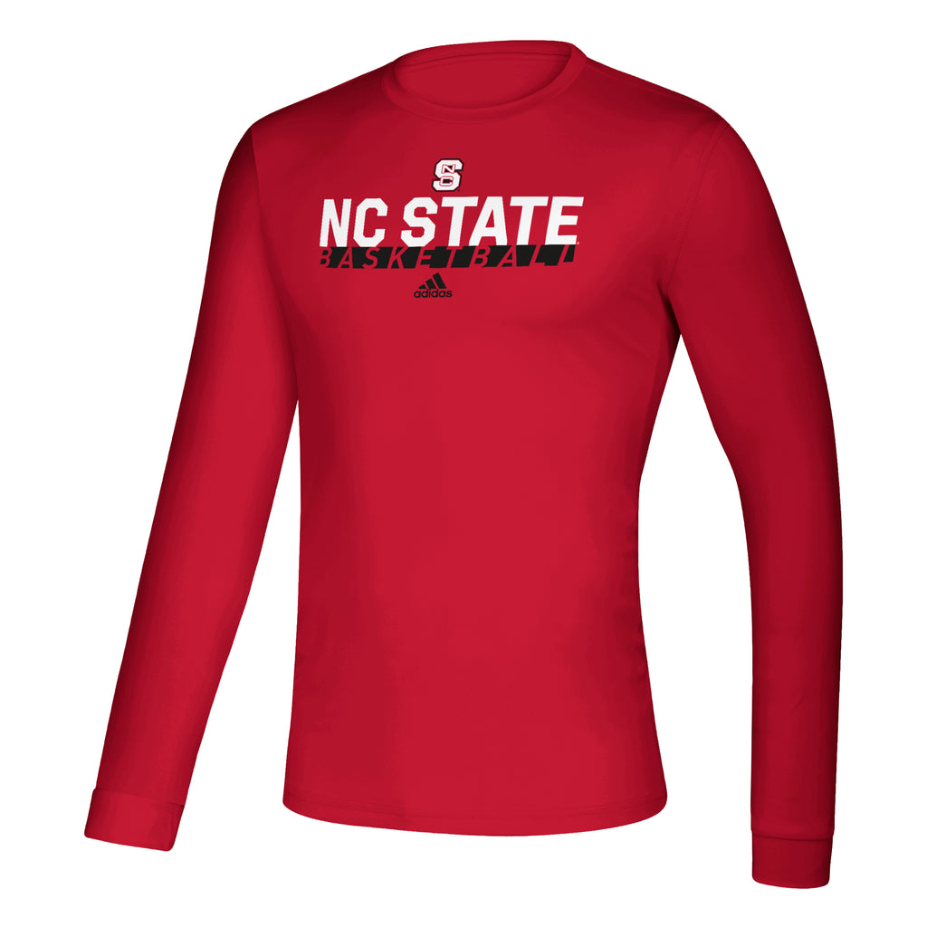 NC State Wolfpack Adidas Red Basketball Creator Climalite Long Sleeve T-Shirt