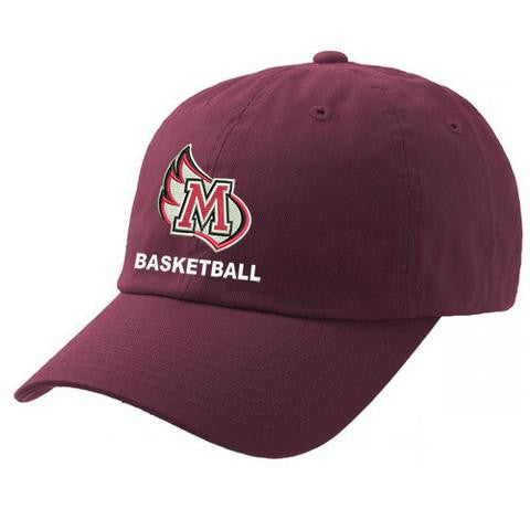 Meredith College Maroon Legacy Basketball Relaxed Twill Adjustable Hat