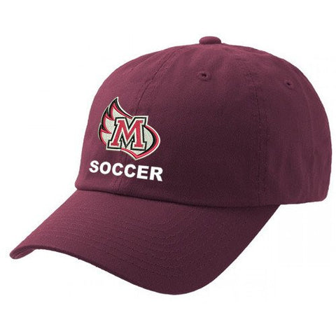 Meredith College Maroon Legacy Soccer Relaxed Twill Adjustable Hat
