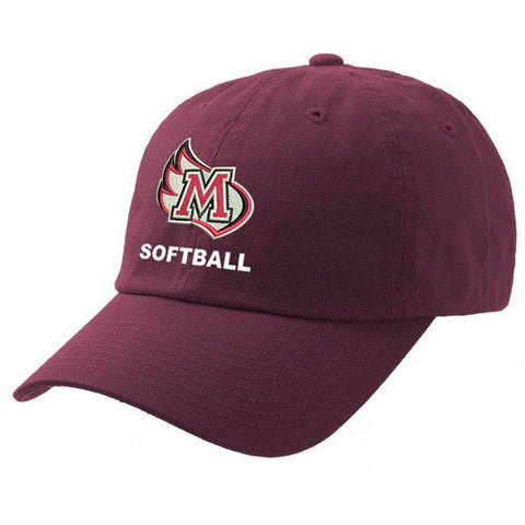 Meredith College Maroon Legacy Softball Relaxed Twill Adjustable Hat