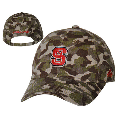 NC State Wolfpack Women's Adidas Camo Print Slouch Adjustable Hat