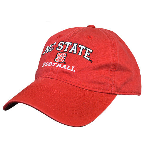 NC State Wolfpack Football Red Relaxed Fit Adjustable Hat