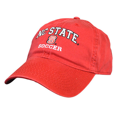 NC State Wolfpack Soccer Red Relaxed Fit Adjustable Hat