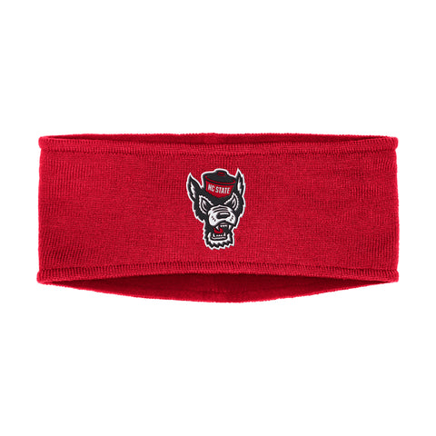 NC State Wolfpack Adidas Red Wolfhead Coaches Sideline Earband