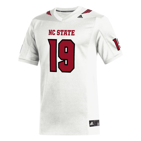 NC State Wolfpack Adidas White 2019 #19 Replica Football Jersey