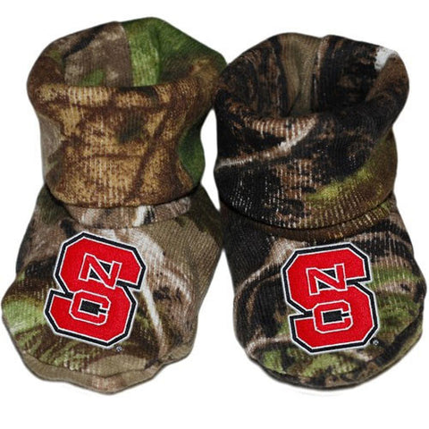 NC State Wolfpack Newborn Camo Bootie Shoes