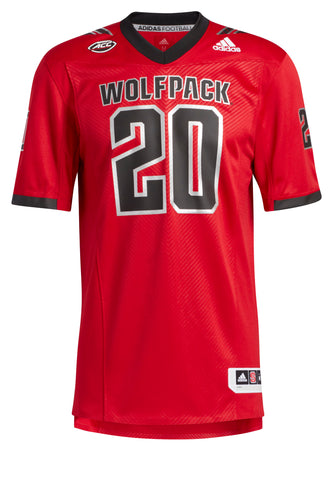 NC State Wolfpack Adidas Red Blood Moon 2020 #20 Premier Football Jersey