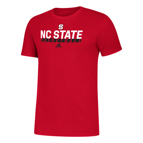 NC State Wolfpack Adidas Red Amplifier Basketball T-Shirt